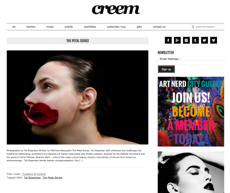 Photo Feature in Creem Magazine Art