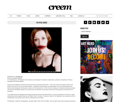 Petal Series in Creem Mag